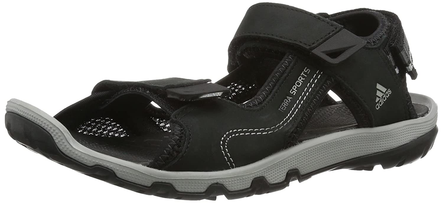 e8a67dc8a901 adidas Terra Sports Leather II V22788 Herren Sandalen, Schwarz (Black 1    Grey Rock S12   Dark Cinder F09), 39 EU  Amazon.de  Schuhe   Handtaschen