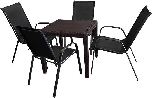 5 piezas. Balcón Muebles Muebles de Jardín Conjunto de asiento de ...
