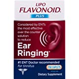 Lipo-Flavonoid Plus Ear Health Supplement #1 ENT Doctor Recommended for Ear Ringing Most Effective Over The Counter Tinnitus
