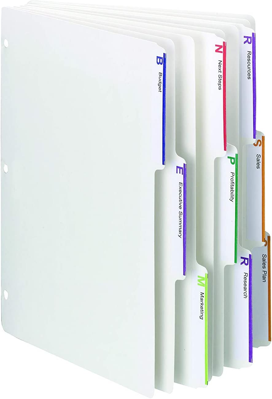 89413 White, Smead Viewables Three-Ring Binder Index Dividers 2 X Pack of 75 1//3-Cut Tab Letter Size