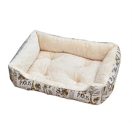 YANQ Cama Lavable para Perros Caja de Almohadilla para el cajón Colchoneta para el Perro Lavable