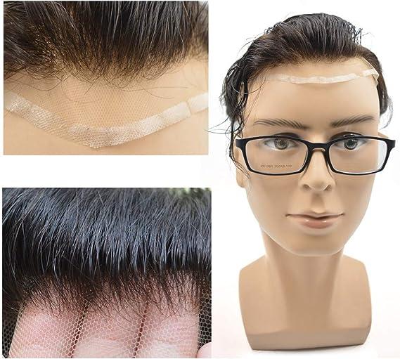 Hairnotion Toupee para Hombres Natural Suizo Encaje Sistema de ...