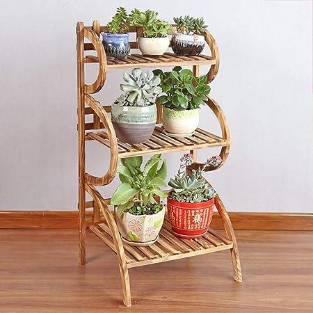 Chairs FL Estantes para Plantas/estanteria Jardin Soporte de Flores Estante de Flores de Madera Soporte de exhibición de Flores de Plantas de 3 Capas Interior de la casa estanterias de Jardin: Amazon.es: