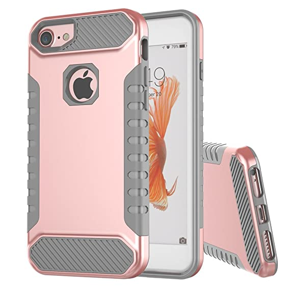 online store 8c872 7f912 iPhone 7 Rose Gold Case,iPhone 6s Case,iPhone 6 Case, Moment Dextrad  [Non-Slip Grip][Dual Layer] Shockproof Slim Anti-Scratch Protection Cover  for ...