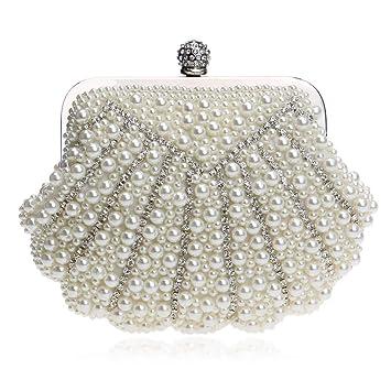 Diamant Soirée Dames Shell Pochette Perlé Faux Perle De Sac X8Nn0wOPk