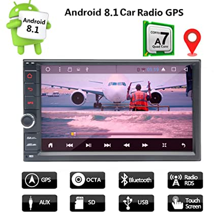 "venove Android 8.1 7"" Double 2 DIN Universal Car Video Mp3 Mp5 Player Bluetooth HD"