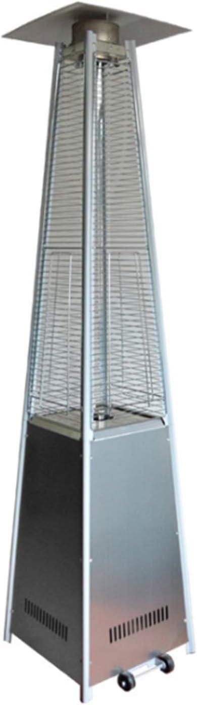 DJLOOKK Calentador de Torre de Gas, Calentador Vertical de Gas licuado en Forma de Torre, Estufa de calefacción de Barra al Aire Libre para jardín Comercial con Ruedas