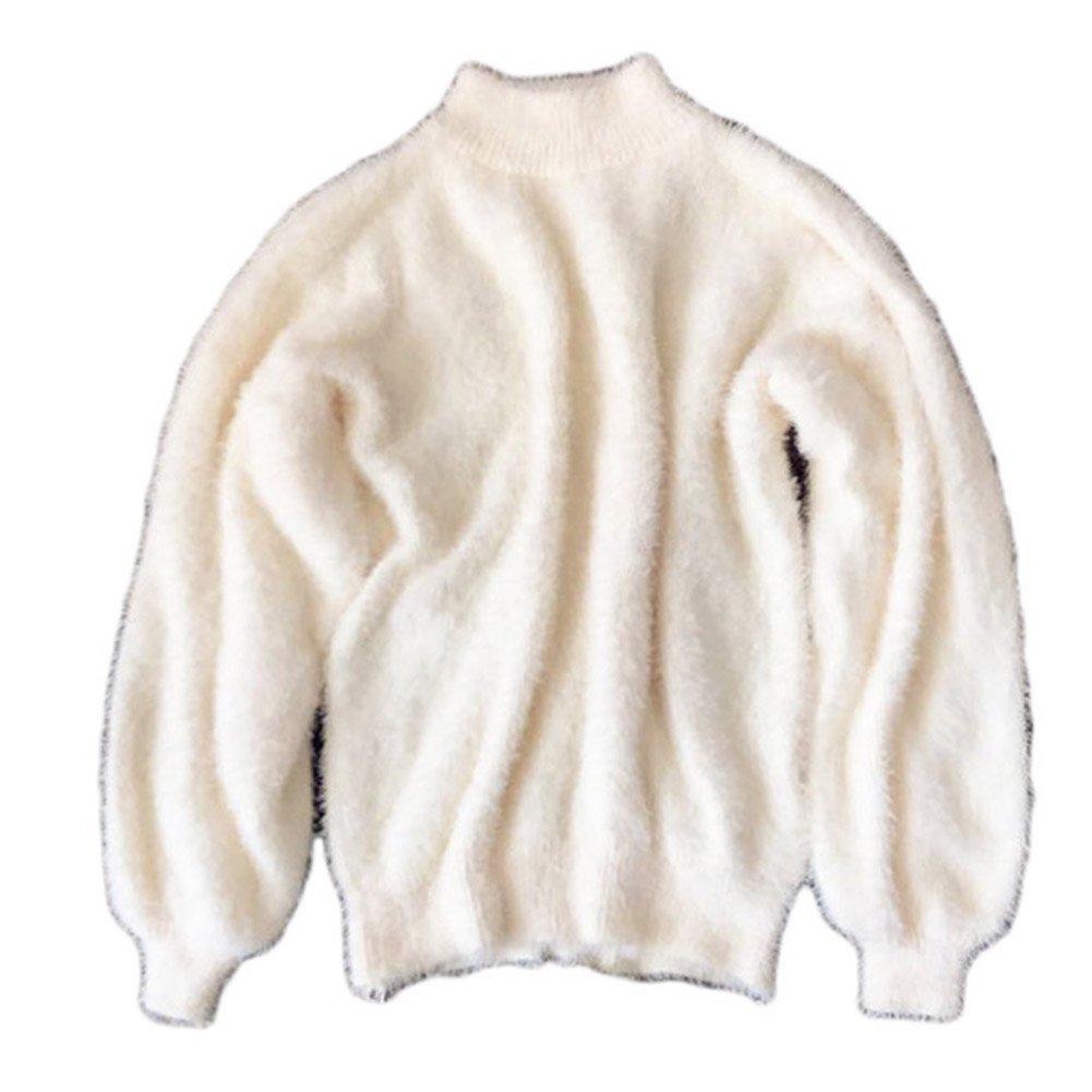Gladiolus Maglia Donna Eleganti Maglieria Manica Lunga Maglioni Autunno Inverno Sciolto Puro Colore Sweater Maglione Top Magliette