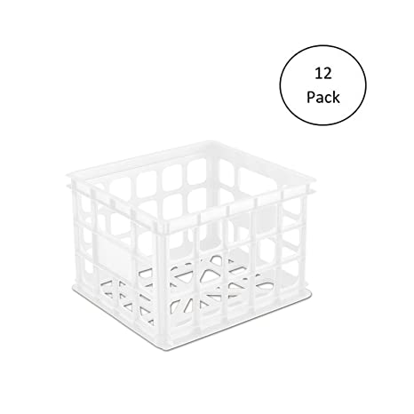 Amazon Com Mrt Supply Plastic Storage Box Crate Container For Home