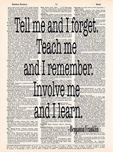 tell-me-and-i-forget-benjamin-franklin-quote-dictionary-page-print-handmade-typography-85x11-unframe