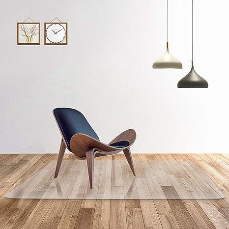Transparente 100% alfombra de la silla de oficina de PC pura para suelos duros, ...