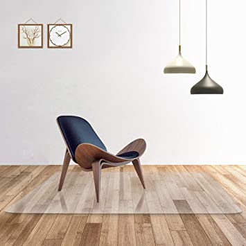 Transparente 100% alfombra de la silla de oficina de PC pura para suelos duros, protector ...