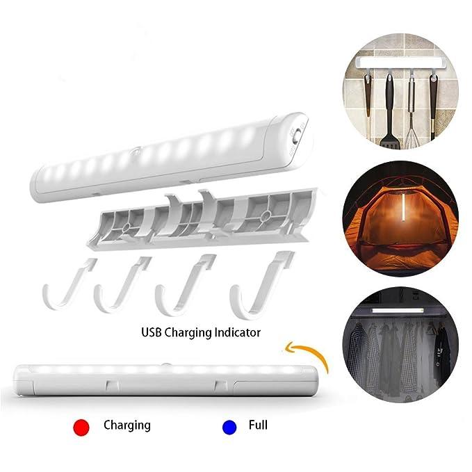 4 opinioni per Zoeson PIR Motion Sensor 12 LED bianco freddo USB Night Light Lampada con ganci