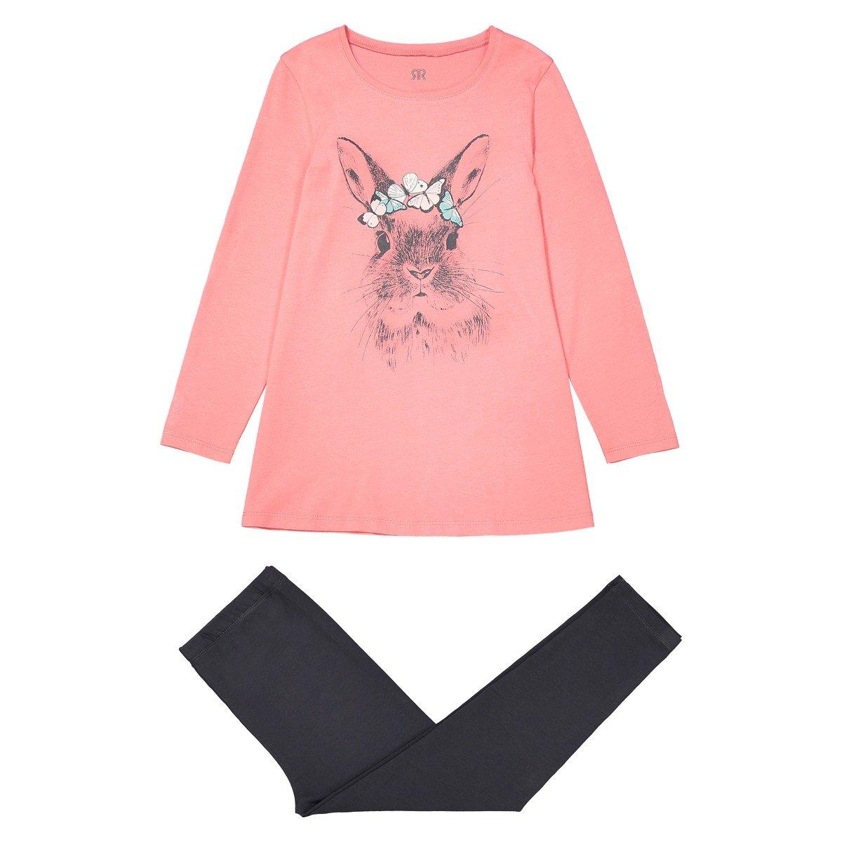3-12 Years La Redoute Collections Big Girls Printed Cotton Pyjamas