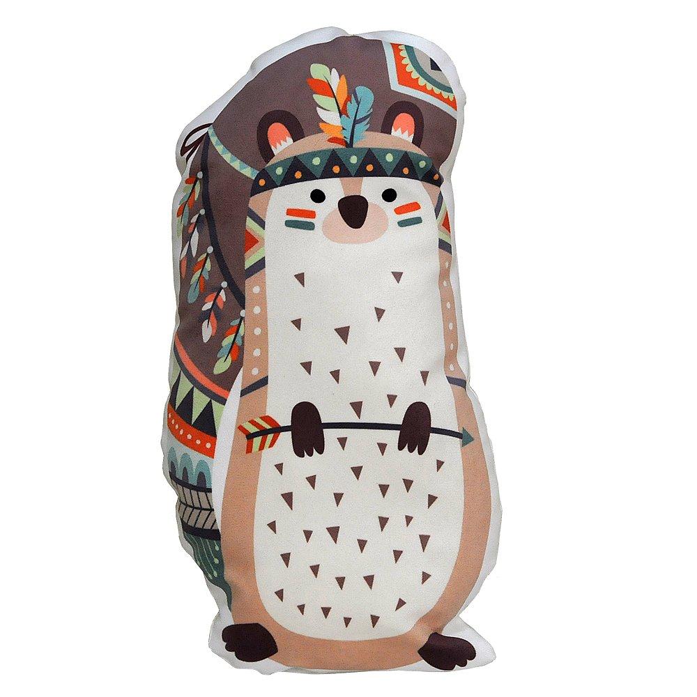 Colour Kingdom Stofftiere Kissen, kurz Plüsch Spielzeug Tierdesign Geformte Kissen für Kinder