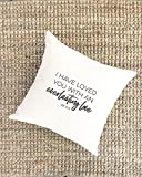 Pillow Cover Christian Mothers Day Gift Everlasting Love Inspirational Gifts for Grandma Wife Gift Farmhouse Love Verses Quote