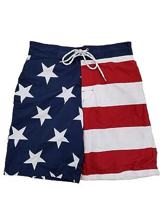 8cee9291a304 St. John's Bay Mens USA Patriotic US Flag American Flag Swim Trunks ...