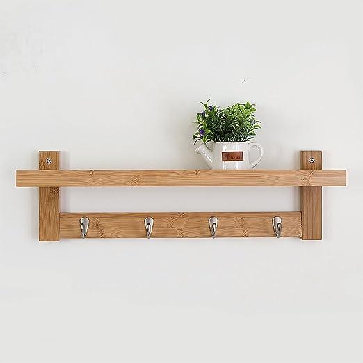 Amazon.com: Perchero de madera maciza para perchas, estante ...