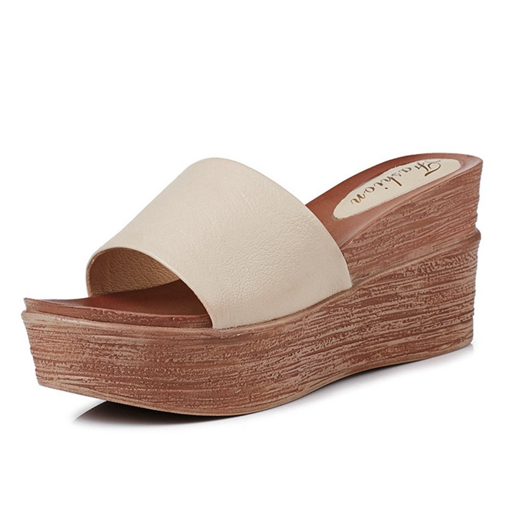 a403ff6315 Amazon.com | CYBLING Womens Wedge Platform Slide Sandals Comfortable Open  Toe Summer Slippers Shoes | Platforms & Wedges