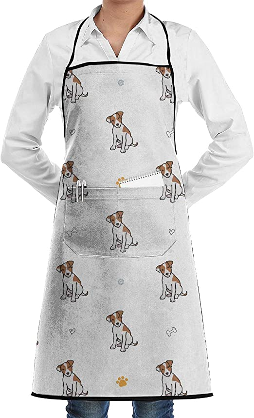 Gray //KT Canvas Apron Adjustable Men Women Kitchen Cooking Pinafore w//Pocket