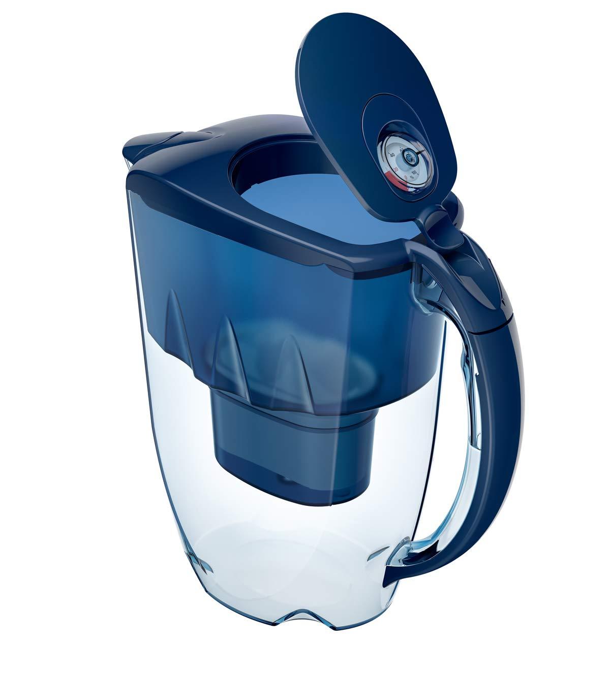 2,8 l Caraffa filtrante per acqua colore: Blu cobalto Aquaphor Jasper