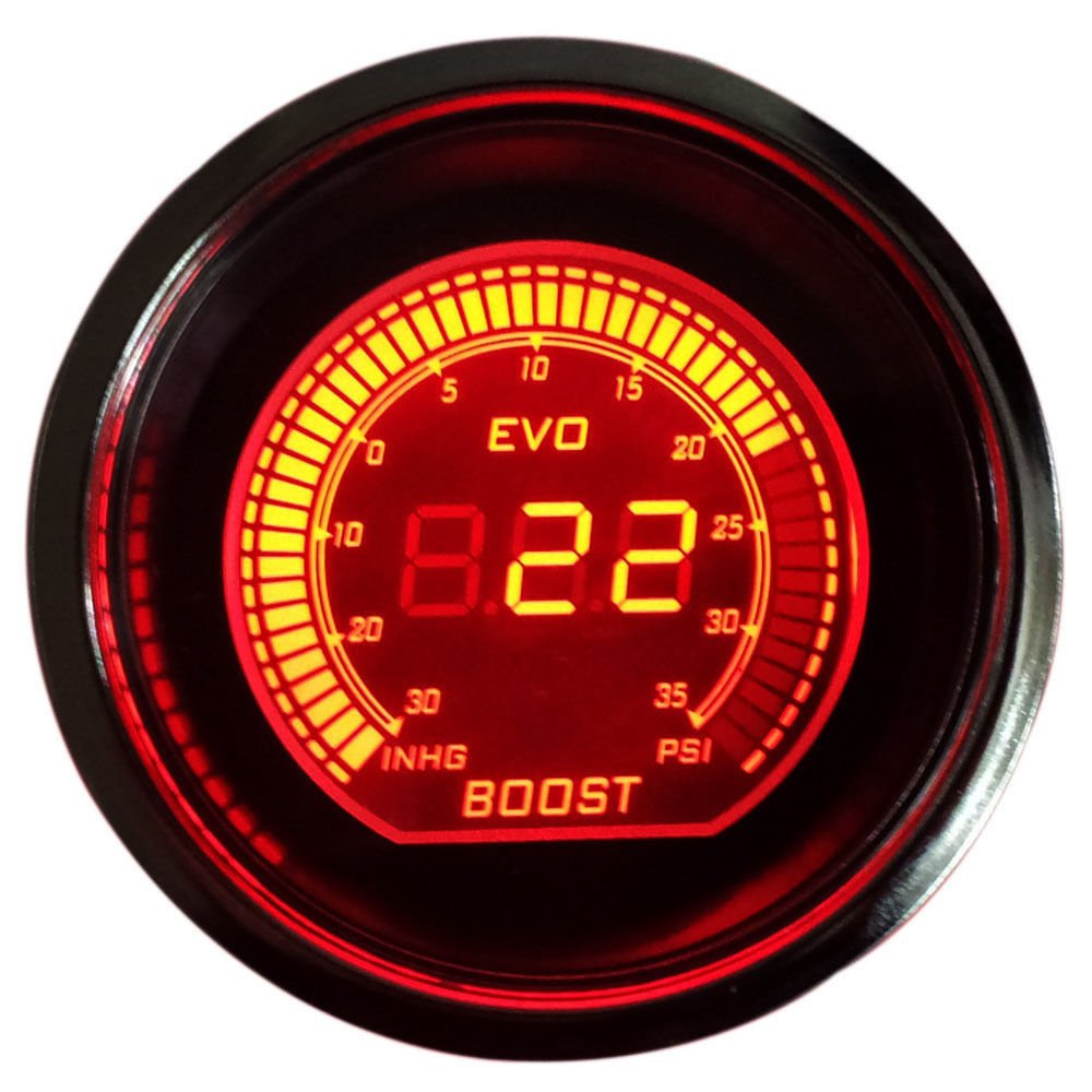 DOXINGYE Hot 2 52mm Turbo Boost Vacuum Gauge Psi 12V Car Blue Red LED Light Tint Lens LCD Screen Auto Digital Meter instrument Universal Back to product details