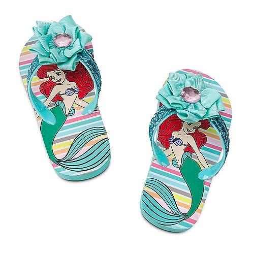 59b65abb0 Disney Store Princess Ariel The Little Mermaid Girl Flip Flops Sandals  Shoes Size 2 3
