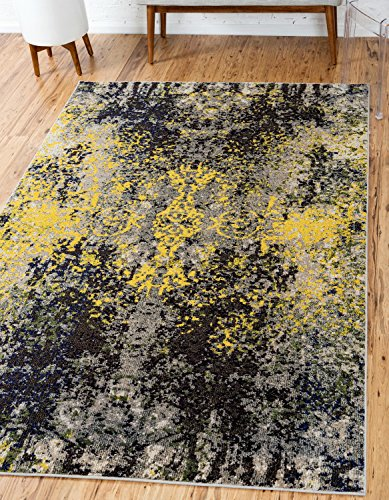 Unique Loom Estrella Collection Modern Abstract Multi Area Rug (5