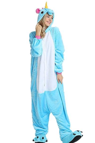 VineCrown Unicornio Pijama Animal Disfraces Traje Adultos Ropa de dormir  Novedad Pijamas de una pieza Cosplay eb9a75507b1d