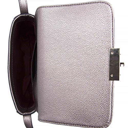 body Argent Armani Silver Borsa Emporio Cross Leather Sac Texturé 7TfSnqHxq