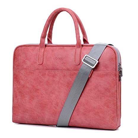 e8ed2bc7ccef YiYiNoe Laptop Tote Bag Business Briefcase for Women Lady 13.3 inch Water  Resistant Computer Handbag with Dismountable Strap,Red