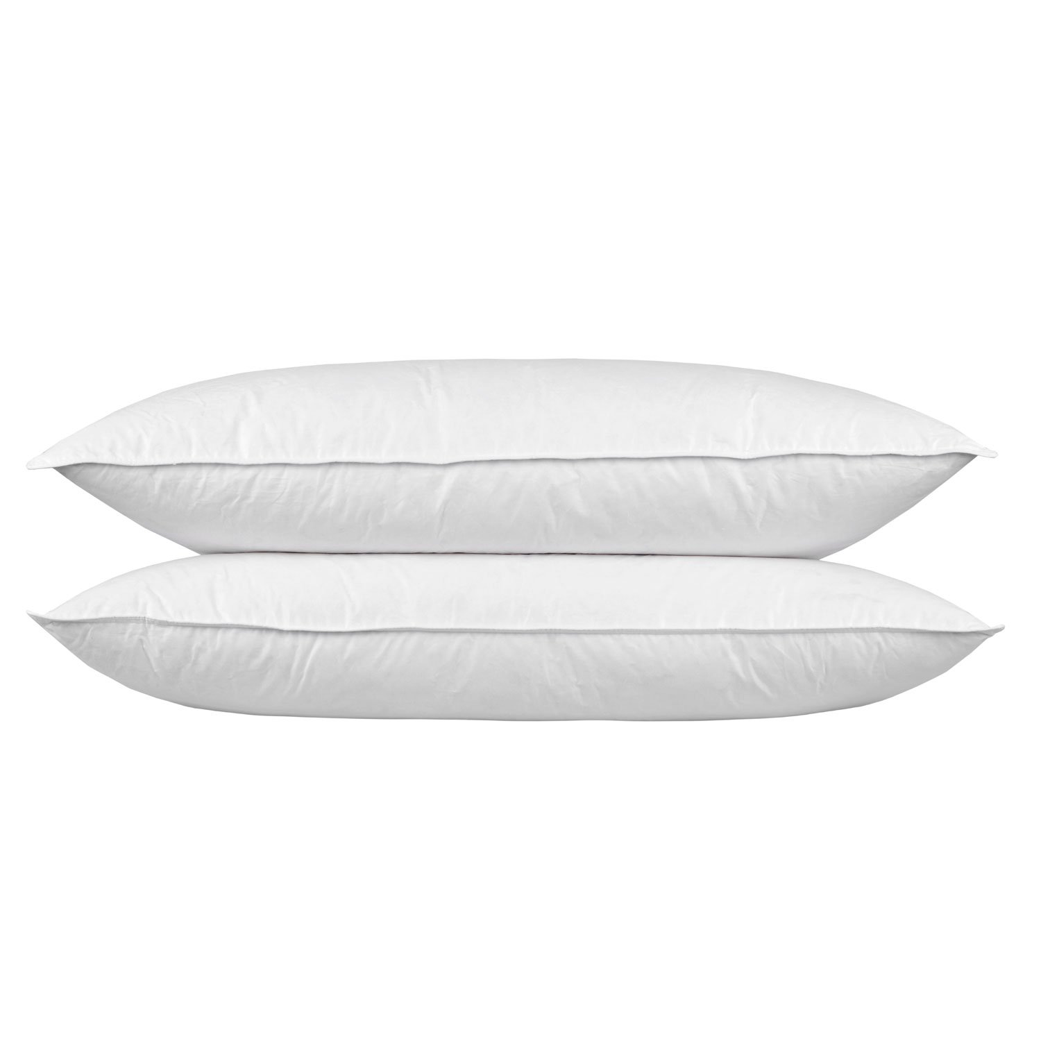 Homescapes Goose Feather Down King Size 3 ft Pillow Bolster 19 x 36 Luxury Hotel Quality with Soft/Medium Firmness (PAIR)