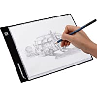 Light Pad Led A4 light Box Thin Tracing Board, Artcraft Tablet with 3 Brightness Settings, USB Cable for Diamond Painting, Tracing, Artists to Transfer Drawing, Artists X-ray, Sketching, Animation