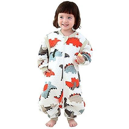 ruiying – Saco de dormir para bebé con patas y manga larga Pijama algodón con reizendem