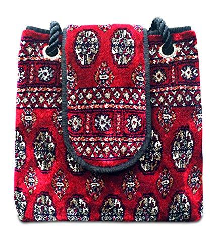 Multicolore Carpet® Borsa Donna Fatta Zaino Di nx8UqPOXqw