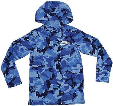 No haga entidad Crítica  Nike Boy's Sportswear Jersey Camo Hoodie (University Blue, X-Small):  Amazon.es: Deportes y aire libre