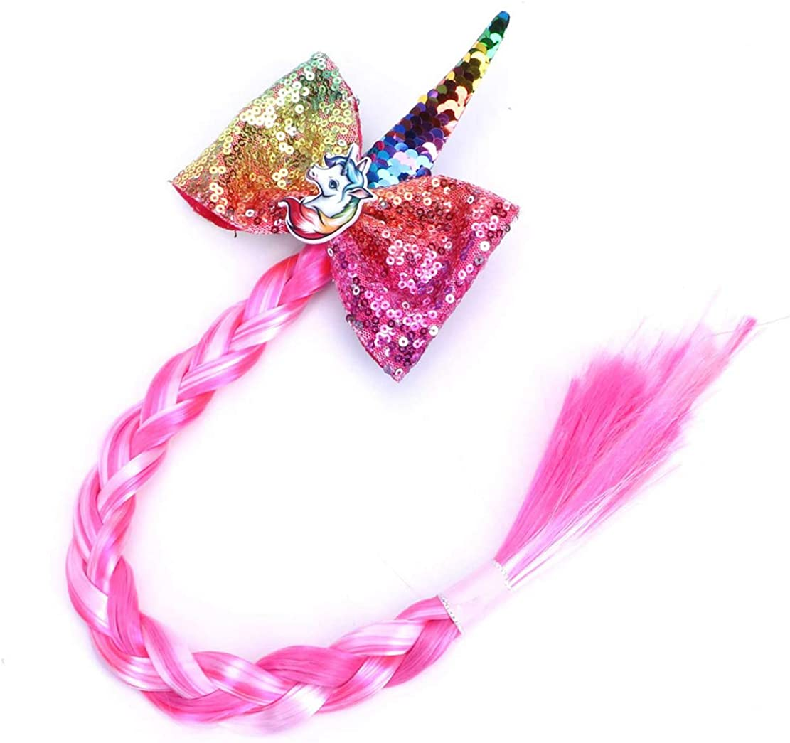 Wetry Girls Princess Dressing Up Hair Piece Wigs Hairpin Costumes Childrens Hair Braid