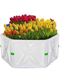 Raised Garden Bed for Planter Flower Vegetable Planter Boxes Outdoor Large (White X-1)