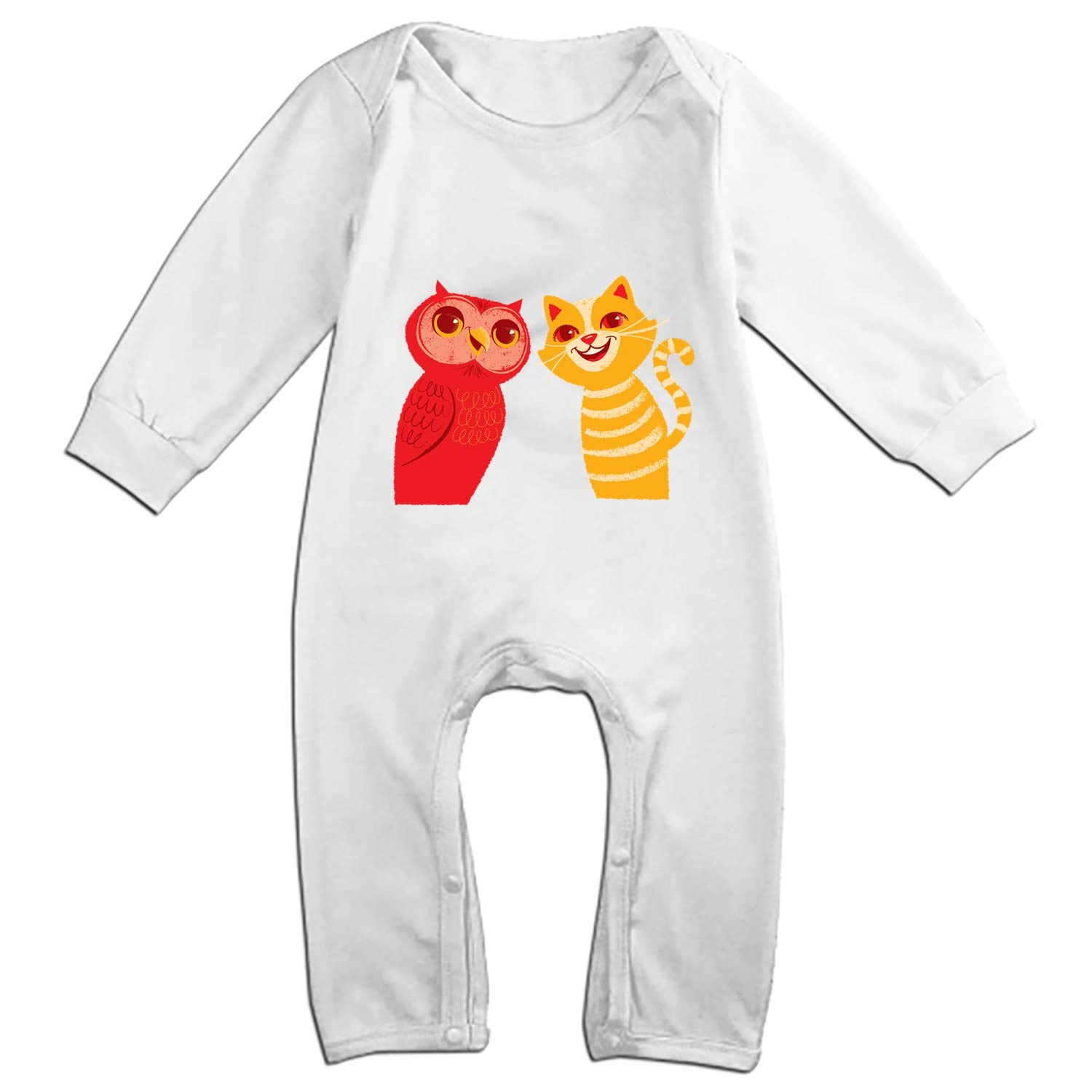 ff4d6171b Amazon.com  The Owl and The Pussyct Baby Onesies Long-Sleeve Infant ...
