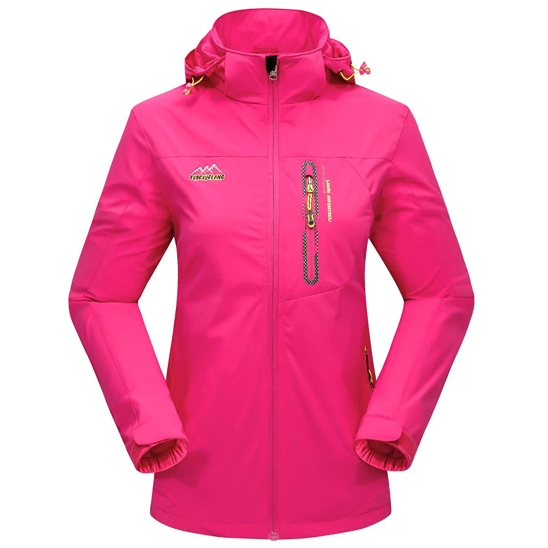 Snow-Wolf Women's Outdoor Elastic Single-layer Windbreaker Waterproof Breathable Jacket