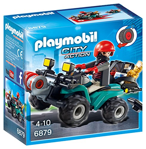 (PLAYMOBIL® 6879 City Action Robber's Quad with Loot with Pullback Motor)