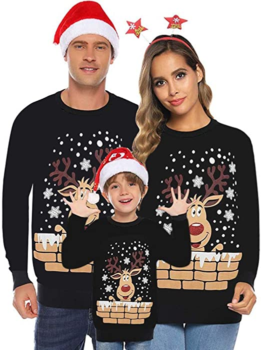 Infant Baby Ugly Christmas Sweater Toddler Girl Boy Reindeer Knitted Sweaters Pajamas Outfit Kehen