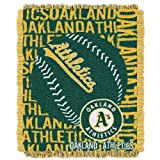 MLB Oakland Athletics 48 x 60-Inch Double Play Jacquard Triple Woven Throw
