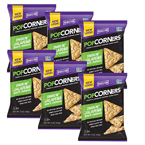 Popcorners Natural Popped Corn Chips 5-Ounce Package, Cheesy Jalapeno Flavor (Case of 6) by Popcorners