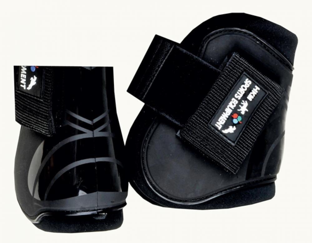 Pony lila//Schwarz mehrfarbig 4er Set HKM 561213 HKM Springgamaschen und Streichkappen
