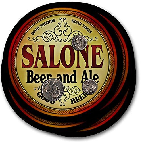 Saloneビール& Ale – 4パックドリンクコースター   B003QXVJJY