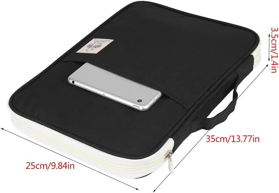 Yuyte con cerniera Borsa portadocumenti A4 per computer portatile 4