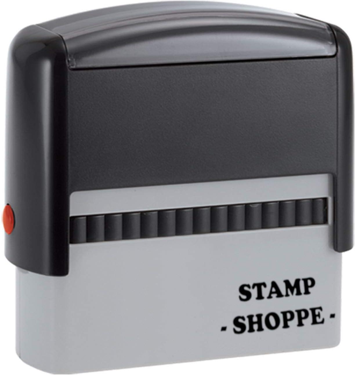 2 Line Custom Stamp | Classic Grey Model, 2.3x0.81 Inch Rectangular Prints