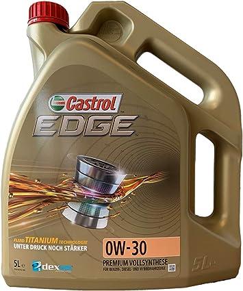 Castrol Oil 558 00 02 Mot 0 W30 Edge Cas Titanium 5 L Litre Price 17 02 X20ac Auto