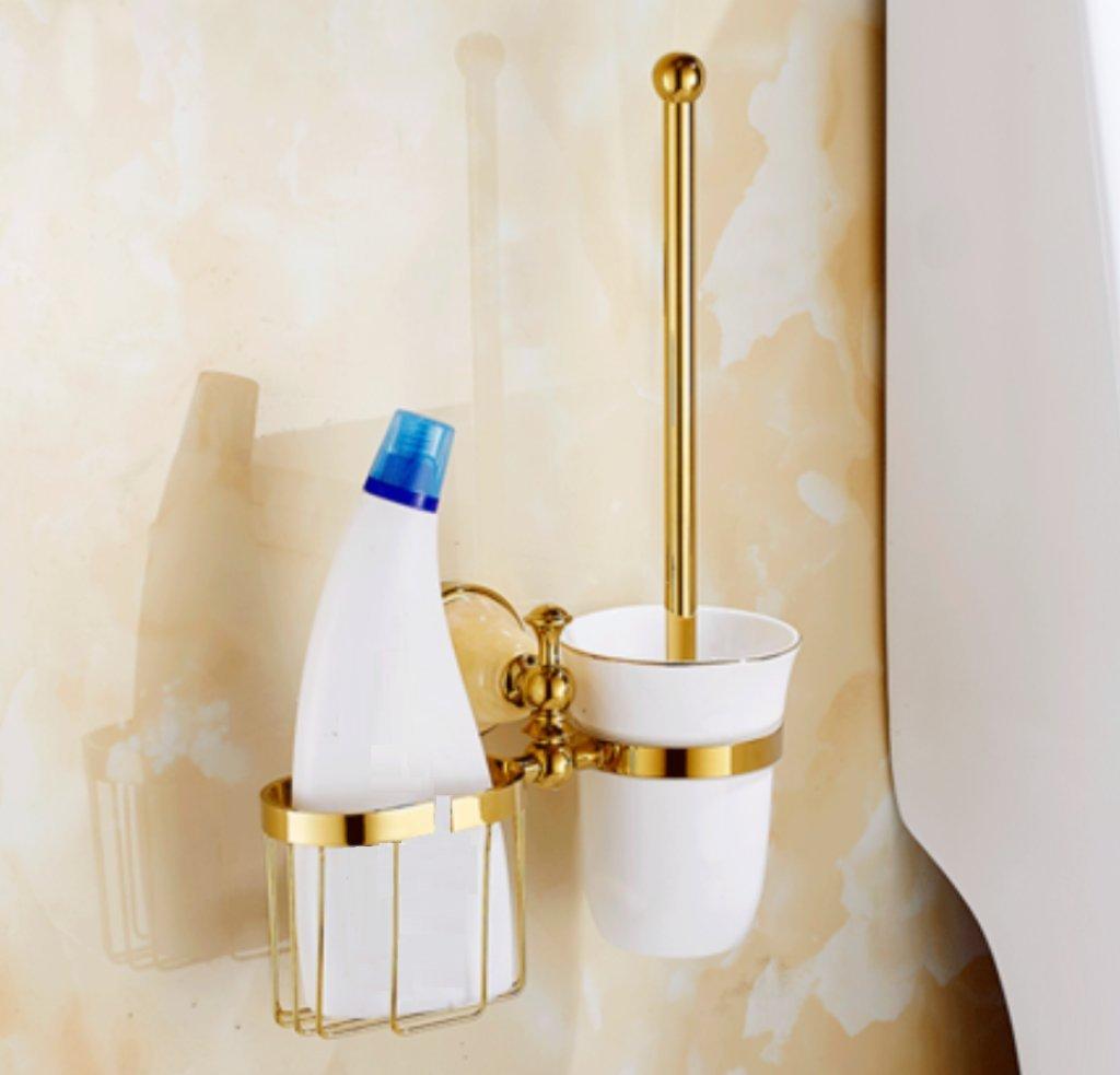 トイレのブラシとホルダーヨーロピアンスタイルのゴールデンジェイドシャワールームトイレを掃除用具のトイレブラシセット,C B07FS5K432 C